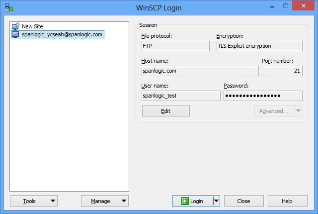 Accessing FTP / FTPS / FTP over Explicit TLS via WinSCP
