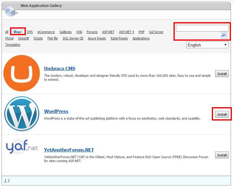 Installation of WordPress in Website Panel - Spanlogic